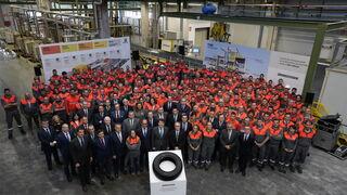 Bridgestone alcanza los 300 millones de neumáticos producidos en Burgos