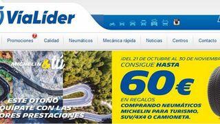VíaLider premia con regalos de hasta 60 euros la compra de neumáticos Michelin