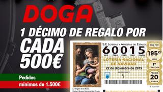 Doga Parts regala lotería para el sorteo de Navidad