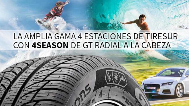 Tiresur promociona su gama de neumáticos all season