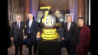 Video institucional del 75º Aniversario del Gremi de Talleres proyectado en el evento