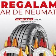 Kumho obsequia con neumáticos a los usuarios