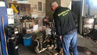 La Guardia Civil descubre un nuevo taller ilegal en Huesca
