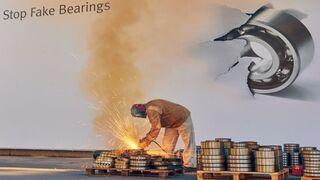 Schaeffler destruye 8,5 toneladas de rodamientos falsificados