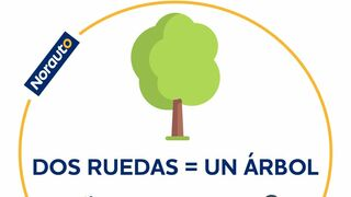 """Norauto lanza la campaña  """"Dos ruedas= un árbol"""""""