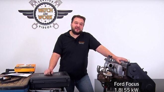 Así se cambia la correa de distribución en un Ford Focus 1.8l 55kW