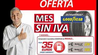 Motortown celebra el mes sin IVA en neumáticos y regala hasta 35 euros en combustible