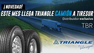 Tiresur comercializará en exclusiva los neumáticos TBR  de Triangle para camiones