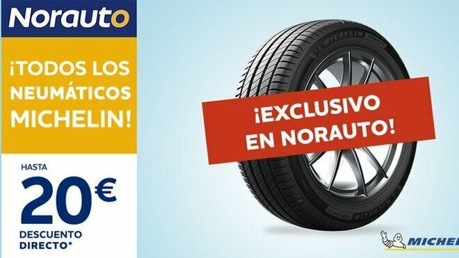 Norauto ofrece hasta 20 euros de descuento por la compra de neumáticos Michelin