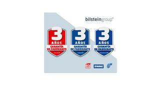 Logotipo especial para promocionar los tres años de garantía de bilstein group