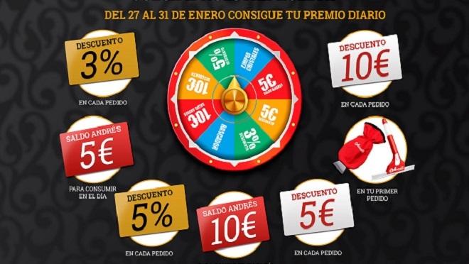 Neumáticos Andrés organiza una ruleta de premios diarios