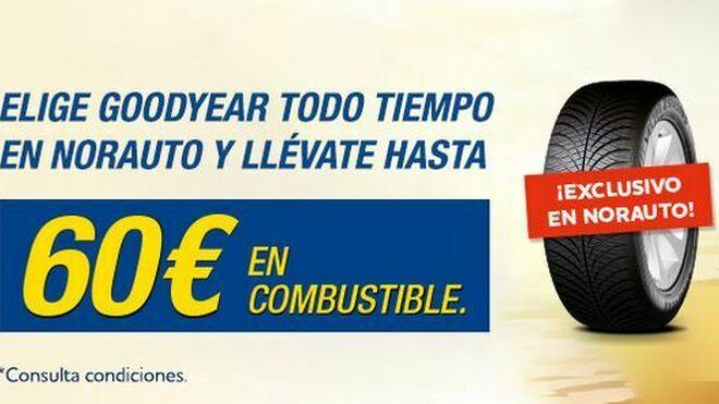 Norauto regala hasta 60 euros en combustible por la compra de neumáticos Goodyear