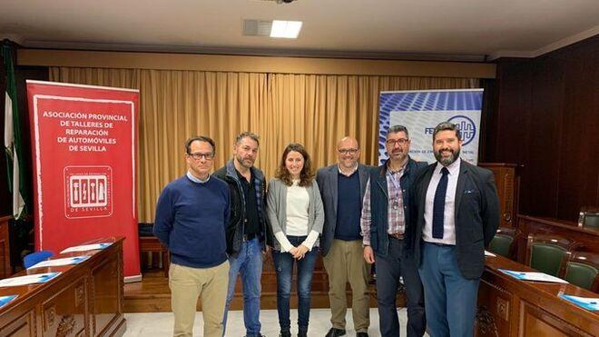 La relación con aseguradoras centra la reunión entre Fedeme y los talleres de Sevilla
