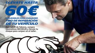 Confortauto regala hasta 60 euros en reparaciones por la compra de neumáticos Michelin
