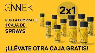 Sinnek lanza una promoción 2x1 en su gama de sprays
