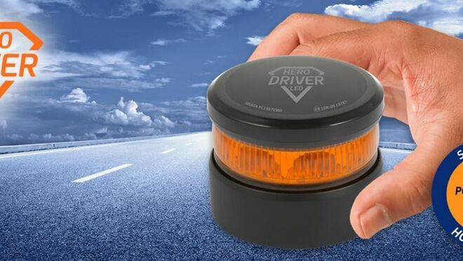 Así es la baliza de emergencia homologada V16 Hero Driver Led de Ryme Automotive