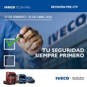 Promoción de Iveco en revisión pre-ITV y en recambios originales Genuine