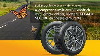 ViaLider regala hasta 40 euros en carburante por la compra de neumáticos BFGoodrich