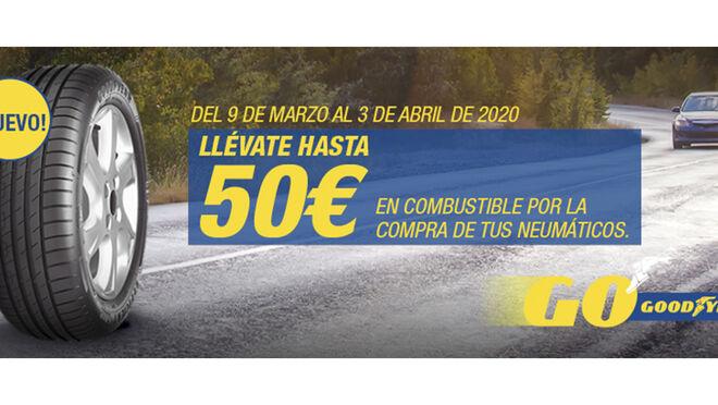 Grupo Sadeco regala hasta 50 euros en combustible por comprar neumáticos Goodyear