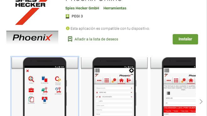 El programa de gestión de color Phoenix, ya disponible para IOS y Android