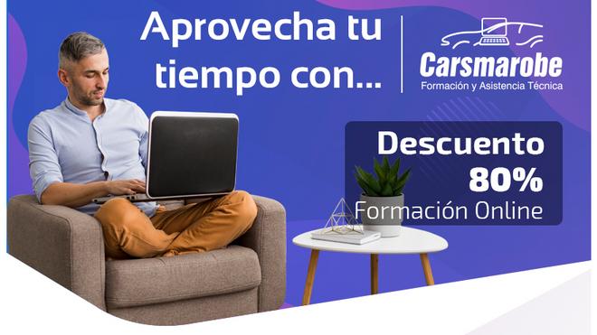 Carsmarobe ofrece 80% de descuento en formación online con la presencial suspendida