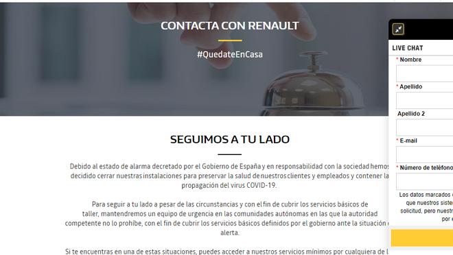 """La red Renault estrena """"Live Chat"""" para dar servicio durante el estado de alarma"""