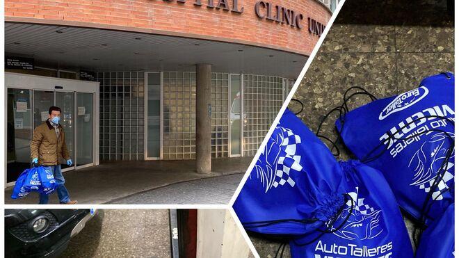 Auto Talleres Vicente (Eurotaller) dona mascarillas al Hospital Clínico de Valencia