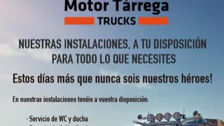 Motor Tàrrega Trucks pone sus instalaciones a disposición de los transportistas