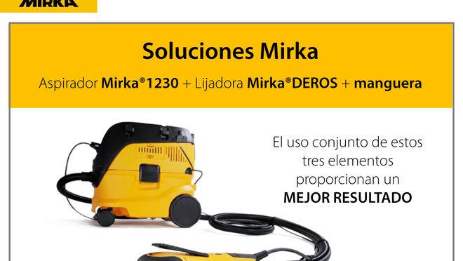 Soluciones Mirka: aspirador Mirka 1230 + lijadora Mirka DEROS + manguera