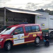 Euromaster cede su flota de atención en carretera para transportar material sanitario