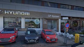 Incendio en el concesionario Hyundai GP Koreavi de Collado Villalba (Madrid)
