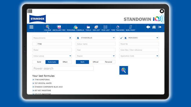 Standowin iQ, la aplicación de Standox para la gestión digital del color, ya disponible