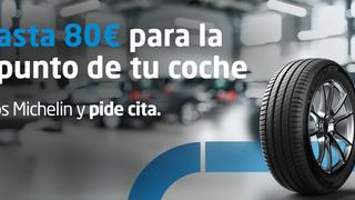 Euromaster regala hasta 80 euros por la compra online de neumáticos Michelin