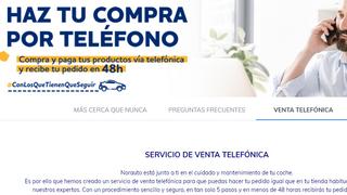 Norauto ofrece un servicio de compra por vía telefónica durante el estado de alarma