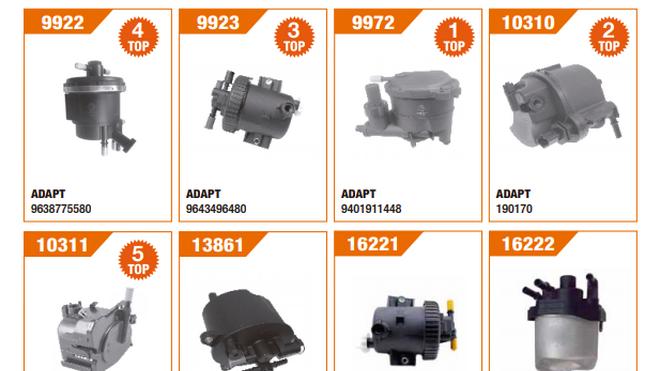 Fare presenta su catálogo sobre filtros de gasoil de PSA Diésel