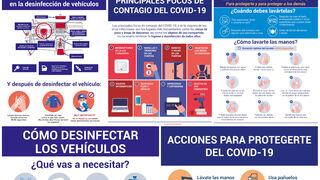 Cinco carteles sobre el coronavirus para usar en el taller