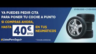 Norauto ofrece descuentos de 40€ por el cambio de neumáticos