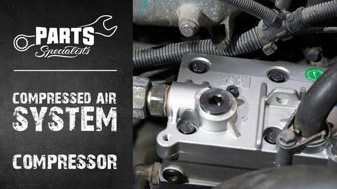 ¿Cómo sustituir el compresor de aire en un camión?