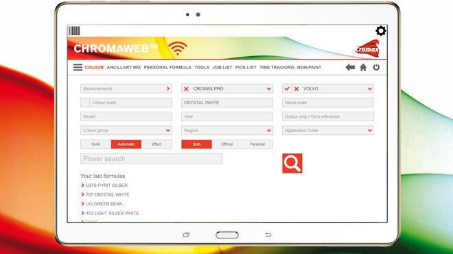 ChromaWeb, la nueva aplicación de Cromax para mejorar la productividad en el taller