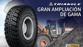 Tiresur amplía su oferta Triangle  OTR con 10 modelos nuevos y más de 40 medidas