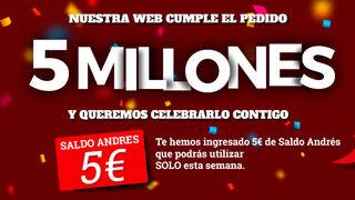 Neumáticos Andrés alcanza los cinco millones de pedidos web