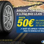 Goodyear regala hasta 50 euros en carburante por la compra de neumáticos en la red Vulco