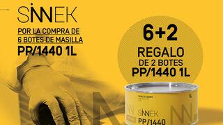 "Sinnek promociona su masilla ligera PP/1440 con la oferta ""6+2"""