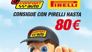 Confortauto regala cheques regalo de El Corte Inglés por la compra de neumáticos Pirelli