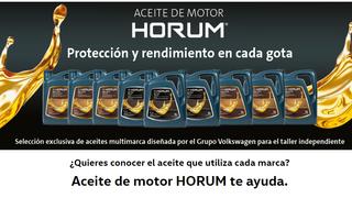 El buscador de aceite de motor Horum de PRO Service, ya disponible