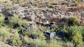 Denuncian la existencia de un vertedero de neumáticos próximo a Cuarte (Zaragoza)