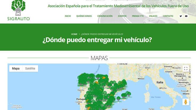 La nueva web de Sigrauto localiza dónde entregar coches para optar al plan de renovación