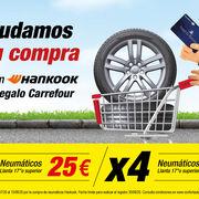 Confortauto ofrece cheques regalo de Carrefour por la compra de neumáticos Hankook