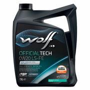 El aceite de motor Wolf OfficialTech 0W-20 LS-FE, certificado por Opel