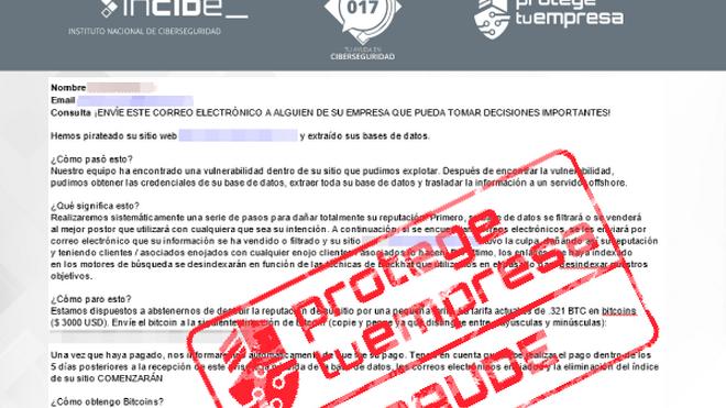 Alerta por intento de extorsión a los talleres a través del correo electrónico